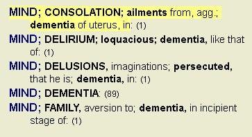Dementia of uterus in Complete Dynamics repertory